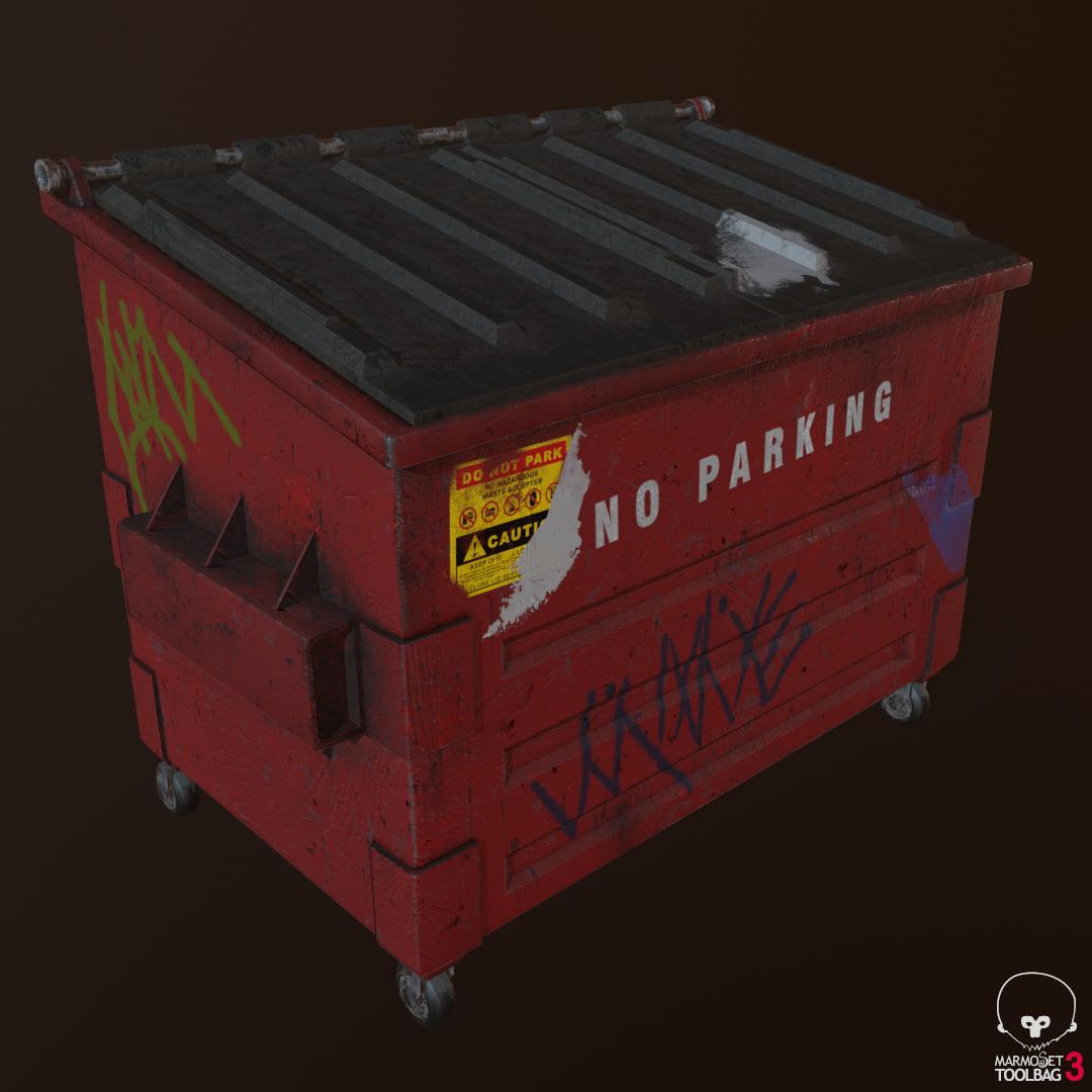 Dumpster (Game Asset)